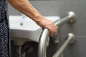 Seniors or disabled individuals should have grab bars near the toilet, inside the shower, and in and around the bathtub.